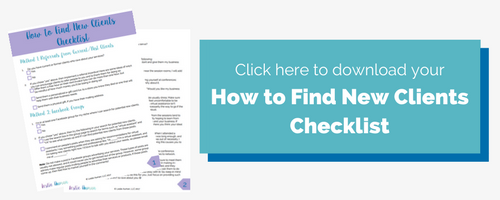 How to Find New Clients Checklist
