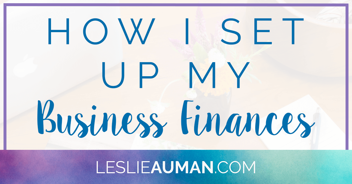 A large rectangular graphic with the words How I Set Up My Business Finances on it