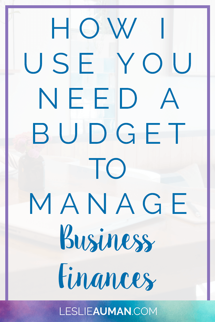 A tall, vertical image with the words How I Use You Need a Budget to Manage Business Finances on it to be used on Pinterest