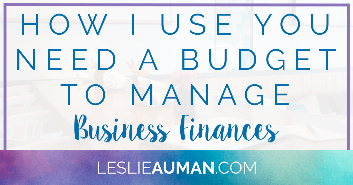 A large rectangular graphic with the words How I Use You Need a Budget to Manage Business Finances on it