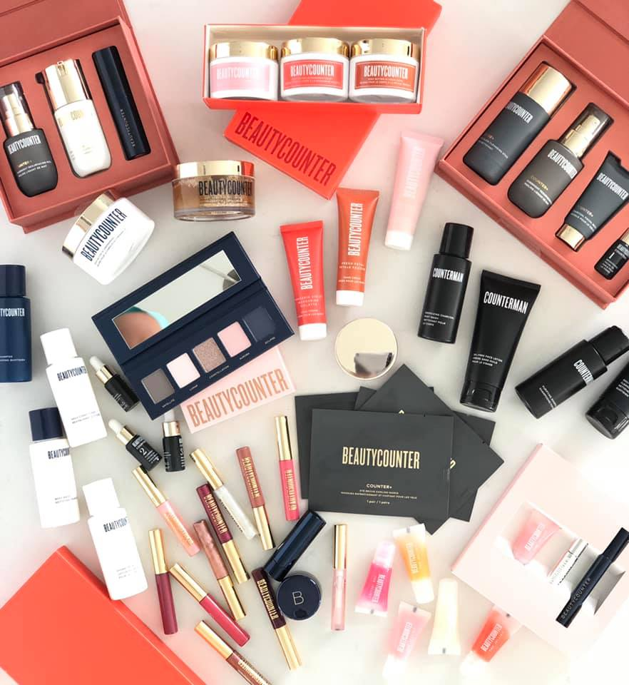 This is a photograph of the 2019 collection of Holiday Sets from Beautycounter.