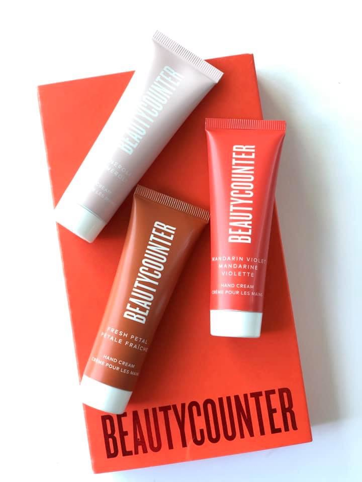 This is a photograph of the Hand Cream Trio from Beautycounter.
